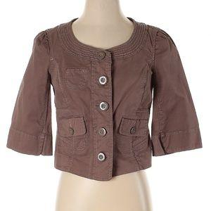 Idra Brown Cropped Jacket Size 4